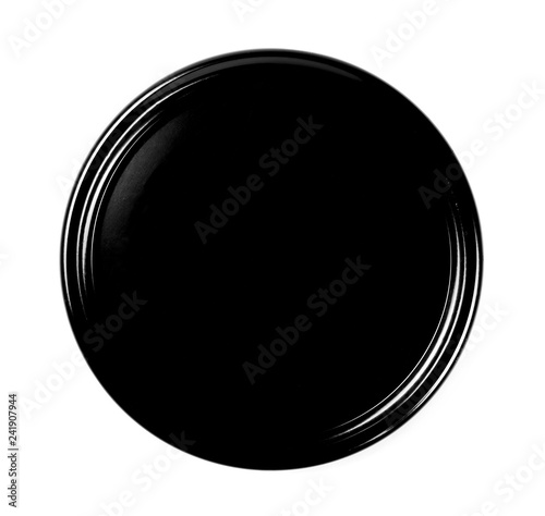 jar lid isolated on white background, top view