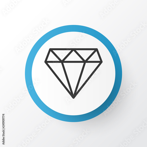 Fotografie, Obraz  Diamond icon symbol