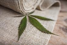 Fabric Made From Hemp .  Cannabis Product