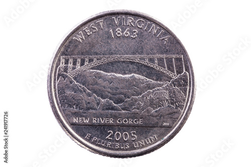 Fotografía  Tail Side Of United States Quarter For West Virginia