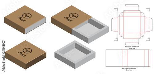 Box packaging die cut template design. 3d mock-up Tapéta, Fotótapéta
