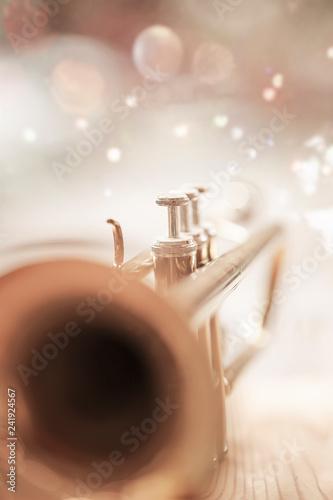 Obraz na płótnie Closeup trumpet mainly bell