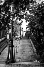 Staircase In Montmartre In Par...