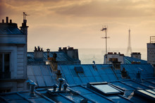 Rooftops And Eiffel Tower In P...