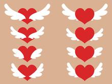 天使ハートのイラスト...