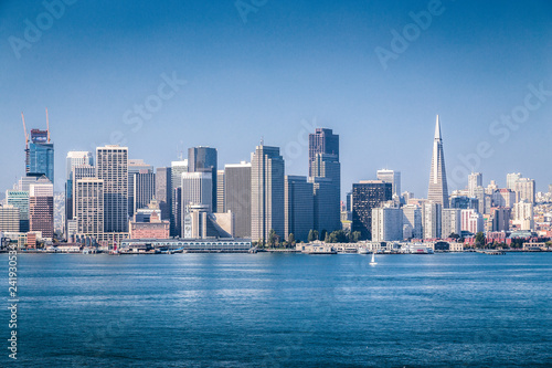 Deurstickers San Francisco San Francisco skyline, California, USA