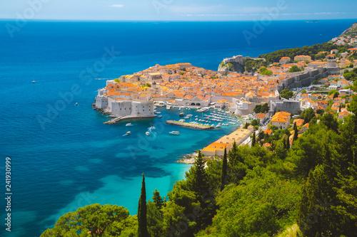 Tuinposter Europa Old town of Dubrovnik in summer, Dalmatia, Croatia