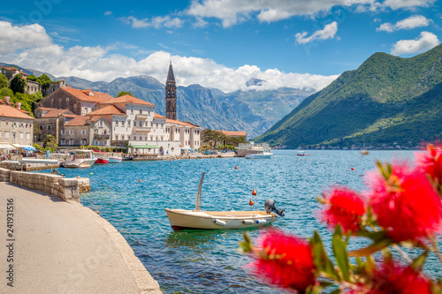 Staande foto Europese Plekken Historic town of Perast at Bay of Kotor in summer, Montenegro