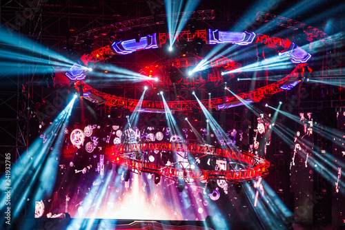 Stage Spotlight with Laser rays - 241932785