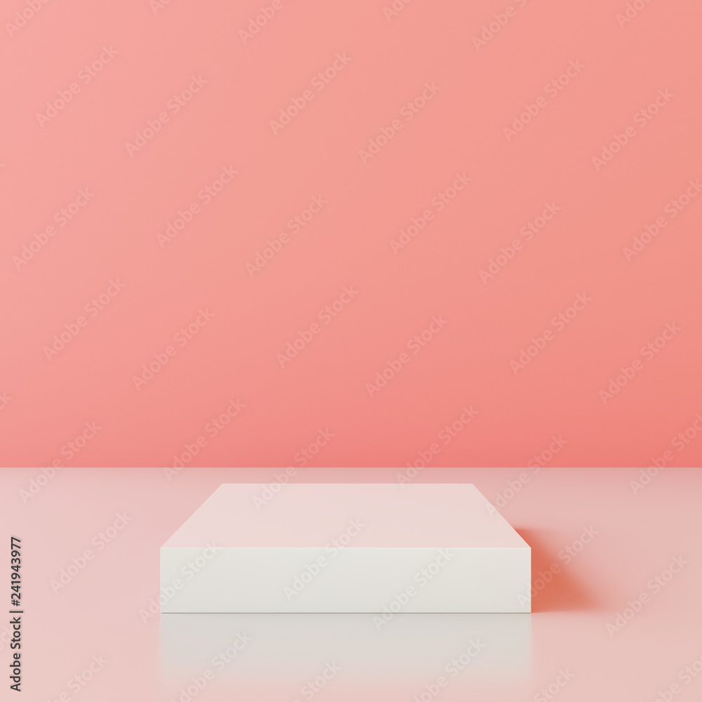 Fototapety, obrazy: Blank product stand with wall color of the year 2019. 3d rendering