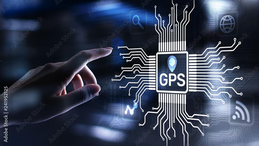 Fototapeta GPS - Global Positioning System, Navigation Tracking Control Technology concept.