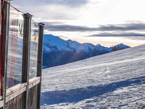 Deurstickers Poolcirkel Italian Alps Dolomites Holiday