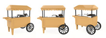 Food Trolley Cart On A White B...