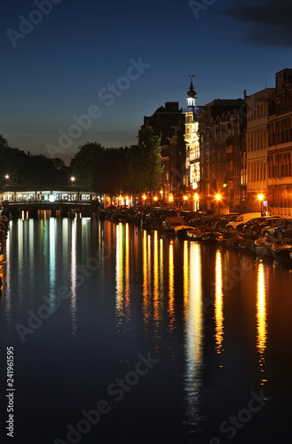 Photo  Keizersgracht - Imperial Canal in Amsterdam. Netherlands