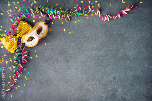Spoed Foto op Canvas Carnaval Colorful birthday or carnival background