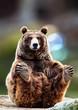 Leinwandbild Motiv gracefully seated bear