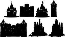 お城のシルエット