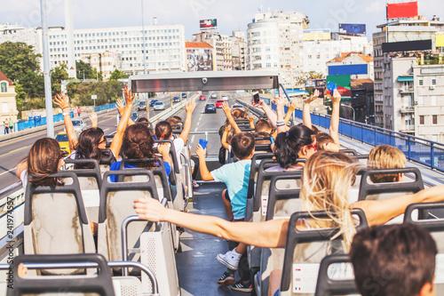 Fototapeta Open-Air Bus Panoramic Sightseeing Of Belgrade
