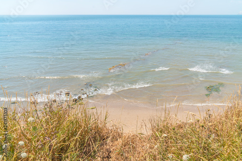 Wide view of the freshwater bay of isle of wight island in the UK Wallpaper Mural