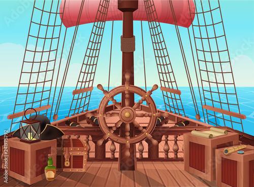 Fototapeta SHIP OF PIRATES