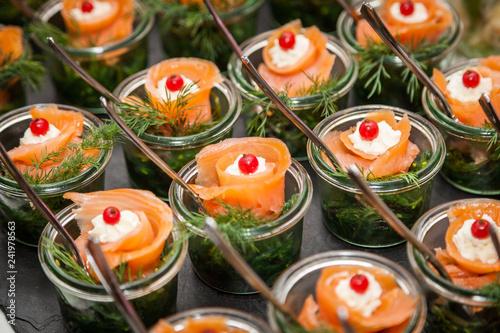 Fotomural Fingerfood - herzhafte Snacks für Party und Buffet