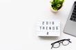 Leinwanddruck Bild - 2019 TRENDS Business Concept