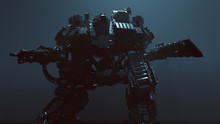 Futuristic AI Battle Droid Cyb...