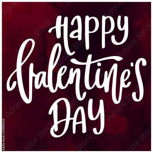 Deurstickers Positive Typography Happy valentine's day lettering