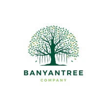Banyan Tree Logo Vector Icon I...