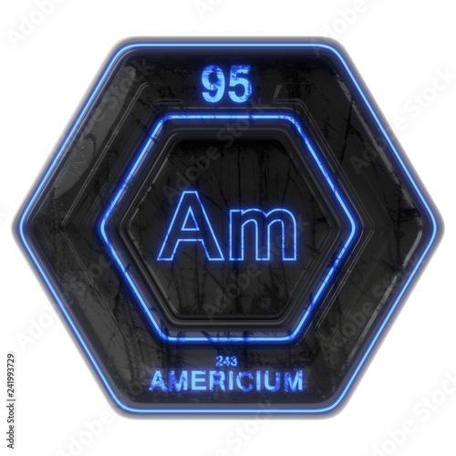 Photo Sci Fi Button Americium
