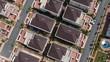 Flug über im Bau befindliche Einfamilienhaus Siedlung