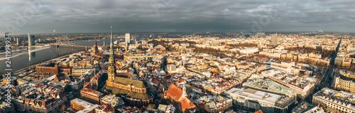 In de dag Ochtendgloren Riga aerial winter day view during Christmas time.