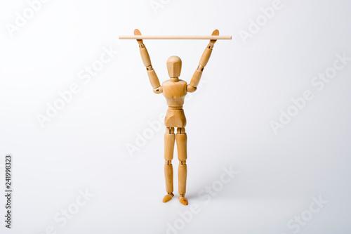 Fotografie, Obraz  Rückentraining mit Gymnastikstab