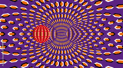 Cuadros en Lienzo Optical Illusion clipart ball. Optical motion illusion