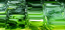 Green Glass Full Screen Abstract Background