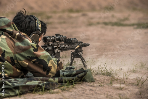 shooting assault rifle