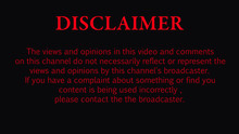 Disclaimer For Video