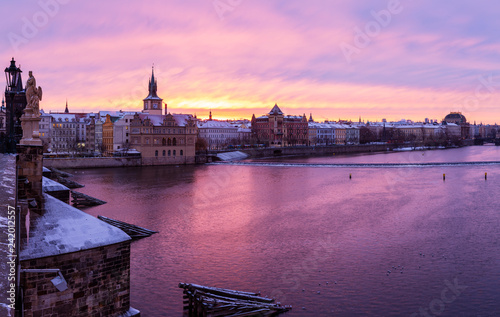 Deurstickers Historisch geb. Charles bridge in Prague, Czech republic