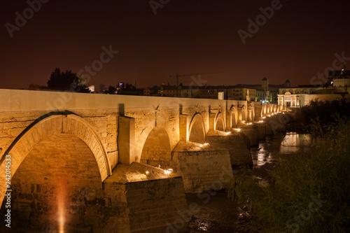 Photo  Roman Bridge on Guadalquivir River in Cordoba