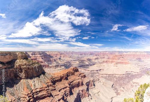 In de dag Verenigde Staten South rim of Grand Canyon