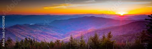 Fototapeta Smoky Mountain Sunset obraz