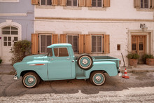 IZMIR, TURKEY - JULY 7-11: Vintage Chevrolet Pickup Street