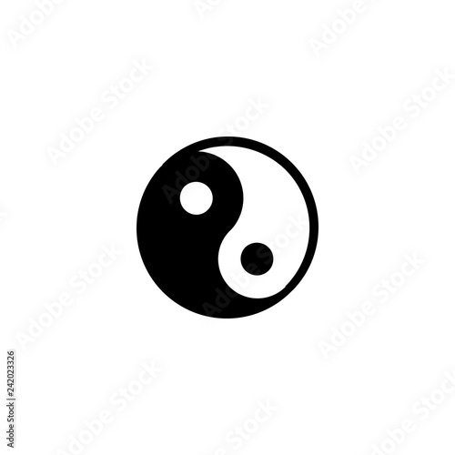 Fotografering  yin yang icon vector