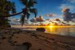 beautiful sunrise on paradise beach, seychelles 3