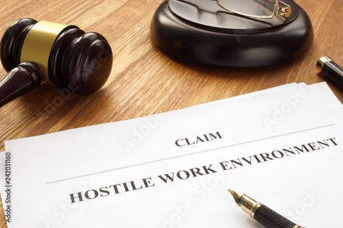 Claim about hostile work environment in a court  - Buy this