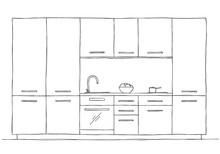 Hand Drawn Kitchen Furniture. ...