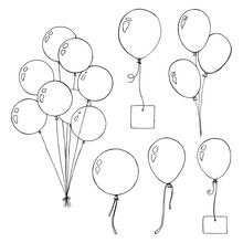 Set Of Different Balloons. Inf...