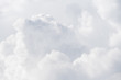 Leinwanddruck Bild - View on a soft white fluffy clouds as background, texture (abstract)