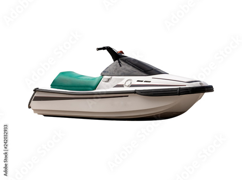 Garden Poster Water Motor sports Jet ski,isolated on white background with clipping path.