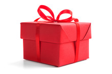 Red Gift Boxe On White